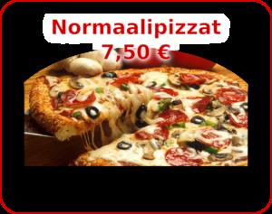 Menu - kuvalinkki Normaalipizzat valikoimaan.
