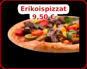 Menu - kuvalinkki Erikoispizzat valikoimaan.