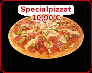 Menu - kuvalinkki Specialpizzat valikoimaan.