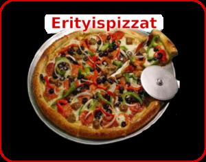 Menu - kuvalinkki Erityispizzat valikoimaan. (Normaali-, erikois- ja Special -pannupizza, sekä gluteeniton vaihtoehto)